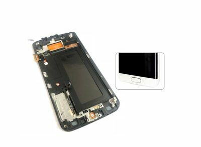 White Full LCD display touch screen with frame for samsung galaxy s6 edge G925F