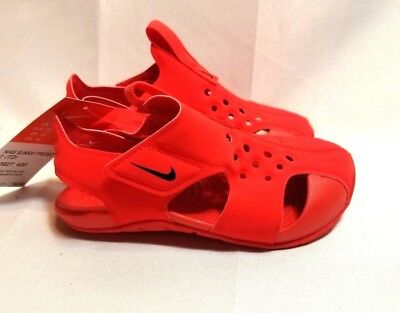 NEW INFANT TODDLER RED Nike Sunray Protect 2 athletic sandals shoes ... 9faa6bf23