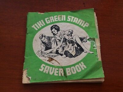 Vintage Tiki Green Stamp Saver Book With The Stamps