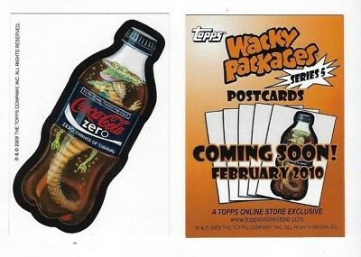 2009 Topps Wacky Packages POSTCARDS SERIES 5 Promo Card CROCA-COLA ZERO 2/sided