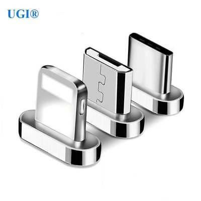 Micro USB Port Magnetic Adapter Charging For iPhone Android Type C Braided Cable
