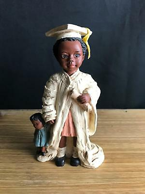 "1992 All Gods Children Martha Holcombe Figurine ""rakiya"" Graduation God Is Love"