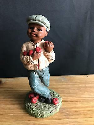 "1989 All Gods Children Martha Holcombe Figurine ""adam"" God Is Love Eating Apple"