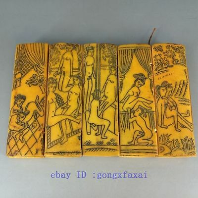 Chinese old collected 10 PCS hand draw men & women picture album  b01