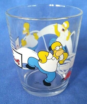 The Simpsons Homer Nutella Collector Glass 2008 Excellent Condition