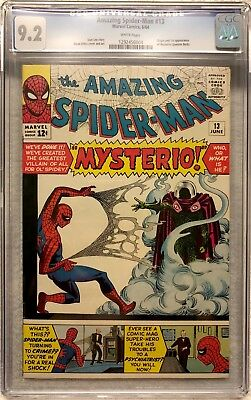 1964 Amazing Spider-Man #13 Cgc 9.2 Universal Key 1St Mysterio White Pages