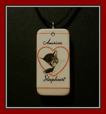America's Sleepheart - Chessie Domino Pendant With Matching Box And Tag