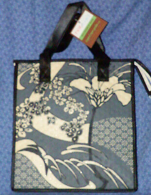 NEW Tropical Paper Garden Fuyu Japanese Flower HOT COLD Reusable Lunch Gift Bag