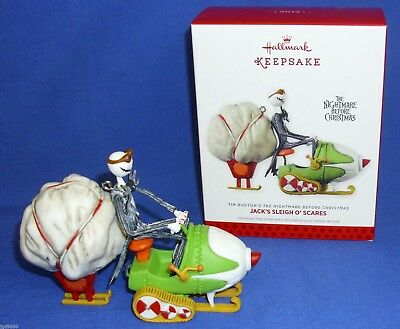 2013 HALLMARK ORNAMENT Nightmare Before Christmas JACK'S SLEIGH O' SCARES NIB