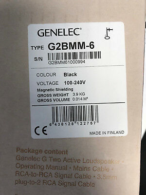 GENELEC G Two, SINGLE, BLACK