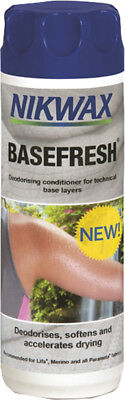 Nikwax BaseFresh Deodorising Conditioner Accelerate Drying for Layers, 300ml New