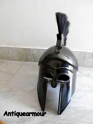 Collectibles Greek Corinthian Helmet Black Antique with Red Plume Replica MT72