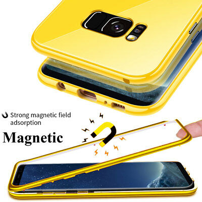 For Samsung Galaxy S7Edge/S10 S9 Plus Note10 360 Magnetic Case TemperGlass Cover