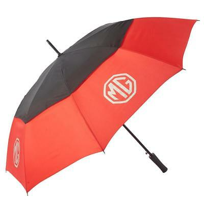 MG Windproof Double Canopy Automatic Open Large Golf Umbrella - Black/Red