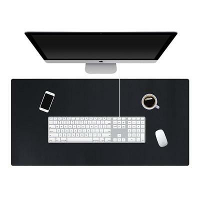 Richblue Large PU Leather Desk Mat Pad Table Protector Mat for Laptop Mouse Cup