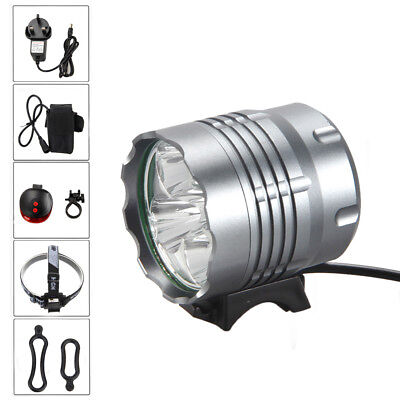 20000Lm 5X XM-L T6 LED Bicycle Head Light Bike Headlamp Headlight Torch 6400mAh