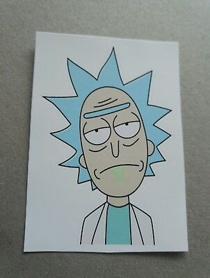 RICK AND MORTY WALL ART VINYL DECAL STICKER CAR LAPTOP 17X15CM SCHWIFTY FUNNY