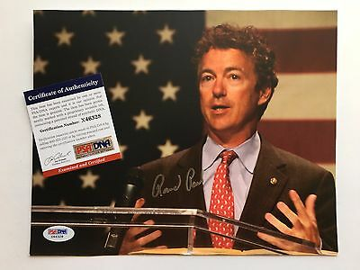 Rand Paul Signed 8x10 Photo PSA DNA Senator Presidential Candidate Autograph