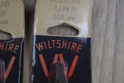 Vintage Wiltshire Files Carded NEW OLD STOCK 8 inch 200mm Regular Taper Old Tool