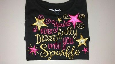 Embroidered Baby/Child's shirt- Never fully dressed without sparkle