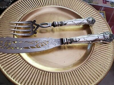 Antique Fish Serving set by James Dixon and Sons Sheffield Plate
