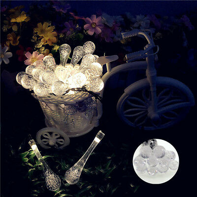 20 LEDs Solar Powered String Lights Wedding Party Home Decor Fairy Light Lamp