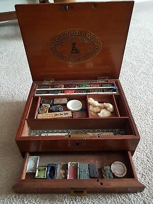 Rare Antique Victorian Reeves & Sons Artist Water Colour Paint Box...paint Block