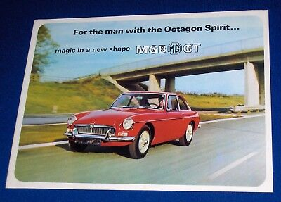 MG MGB GT Advertising Automobile Dealership Sales Brochure 1966 BMC