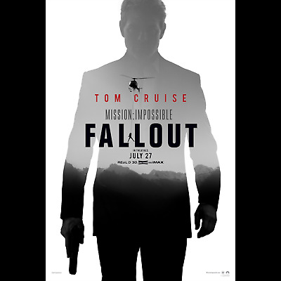 2018 Mission Impossible, Fallout -LARGE 24X36 MOVIE POSTER- Premium Poster Paper