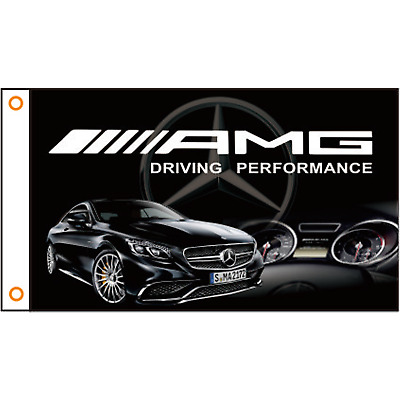 Mercedes Benz Driving Performance AMG Sign Cars Flag Banner  3x5' Custom Racing