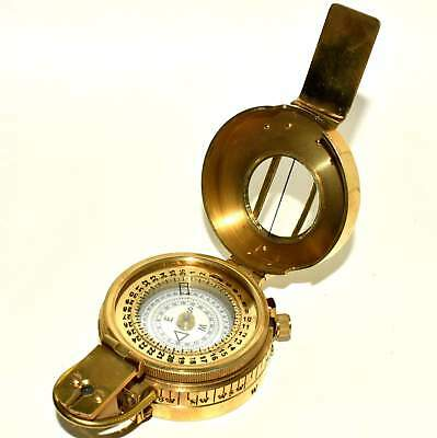 Solid Brass 2 Pieces 3'' Military British Prismatic Compass Polish Finish item