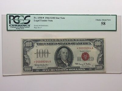 Red Seal $100 1966 Star Note PCGS - GEM and Extremely Rare!