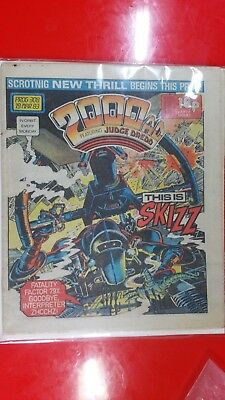 2000AD PROG  308 Dredd. Key issue 1st Appearance of the Skizz by Alan Moore
