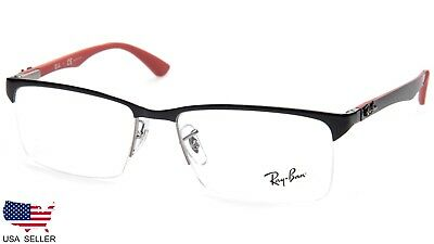 5d320ee4d3 NEW RAY BAN RB8411 2509 SHINY BLACK EYEGLASSES GLASSES RB 8411 56-17 ...