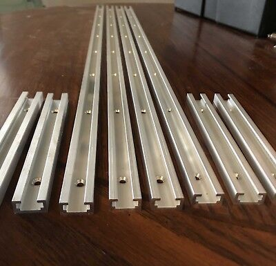 """Standard 6"""" & 30"""" T-track, T-slot for Drill Press, Router Table, Table saw"""