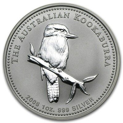 2005 Australia Kookaburra 1 Ounce .999 Silver Coin from Partial Roll
