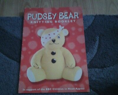 Alan Dart Children In Need Pudsey Bear Toy Knitting Booklet 799