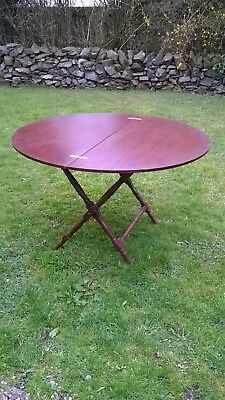 Victorian Mahogany Folding Coaching Table for restoration or use.