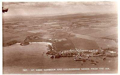 St Abbs Harbour Coldingham Sands Air Aerial View unused RP old pc
