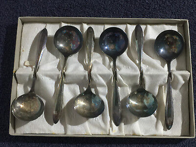 Community Plate - Silver Plated Ladle Spoons - Est 1930's - Each Spoon is Etched
