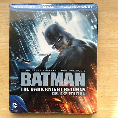 Batman The Dark Knight Returns Deluxe Edition Blu Ray New & Sealed