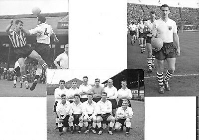 "3 Superb 8x6"" Original Photographs of Fulham Team, Players, & Action - 1960s"
