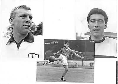 "3 Superb 8x6"" Original Photographs of Famous Footballers of the 1960s"