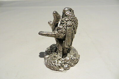 Country Artists Filled Hallmarked Sterling Silver Bird On Branch 1992