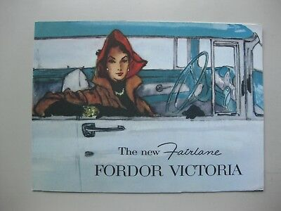 Ford Fairlane Victoria brochure Prospekt English text 1956 8 pages NO REPRINT.