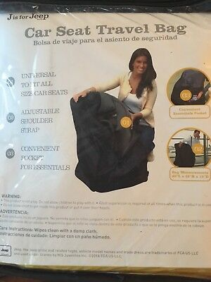 Jeep Car Seat Travel Bag New in Package Black