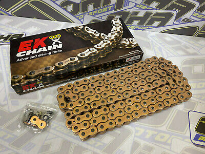 EK 520 SRX2 SRX Motorcycle Bike Heavy Duty X-Ring Drive Chain 120 Links - GOLD