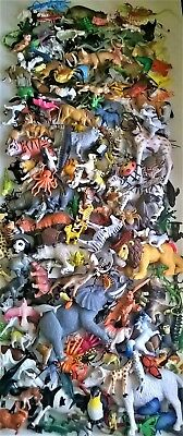 Plastic Animal Lot of 200+ Small Medium Large Jungle Farm Water Some Vintage