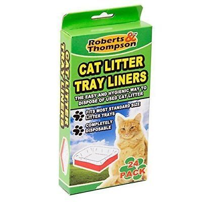 Cat Kitten Large Disposable White Litter Tray Liners Pet Waste Bags 24 scented