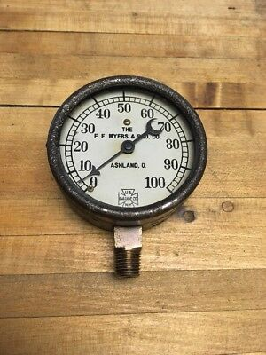 Antique Vintage FE Myers & Bro Co Us Gauge Co NY Pat'd Sept 18 1906 Ashland O